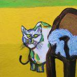 入選作 猫とイス