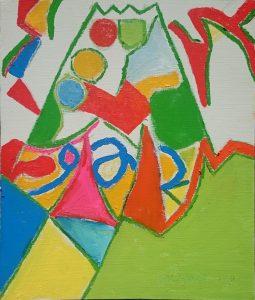 作品平和ト不二、油絵F8号